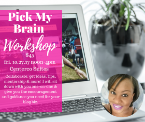 Join me for my first Pick My Brain Workshop happening 10/27 in St. Louis. Read more to get more details on this must-attend event.