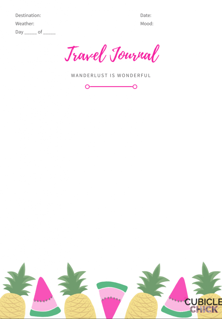 Learn how to truly take a vacation without the interference of work plus download my free travel journal to help you remember your trip.
